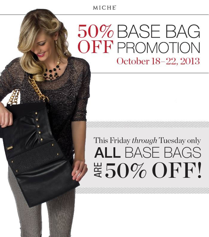 Miche Flash Promotion - All Bases 50% Off Through Oct 22