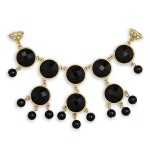 Black Faceted Gem Accent