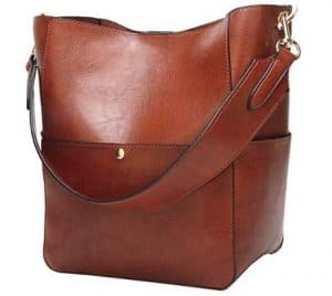 Womens Hobo Style Top Handle Tote PU Leather Handbag Shoulder Purse