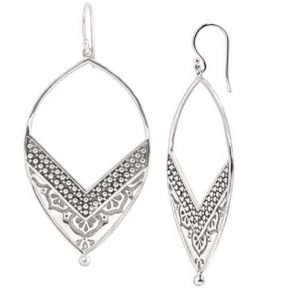 Silpada 'Ornate' Open Drop Sterling Silver Earrings