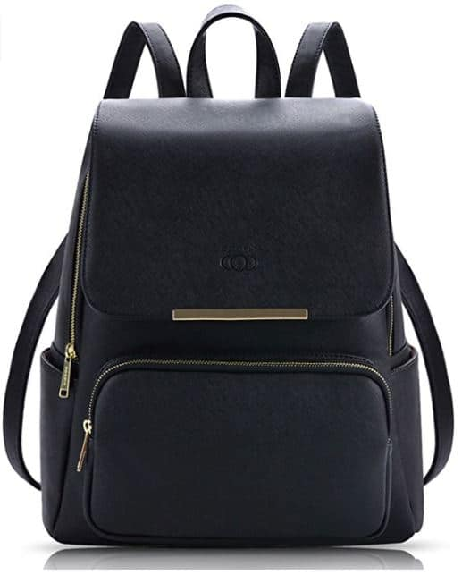 COOFIT Black Faux Leather Backpack | Handbags By Design