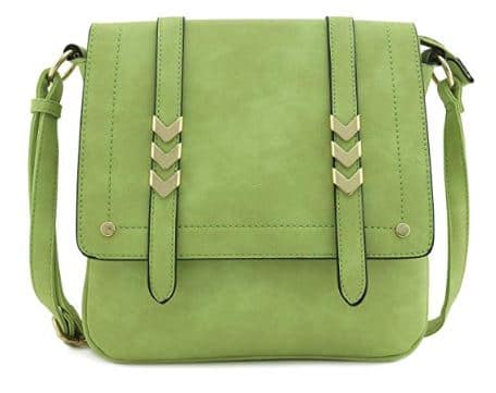 Large Flapover Crossbody Bag
