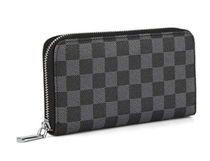 Ladies Wallet and Phone Clutch – Checkered Design